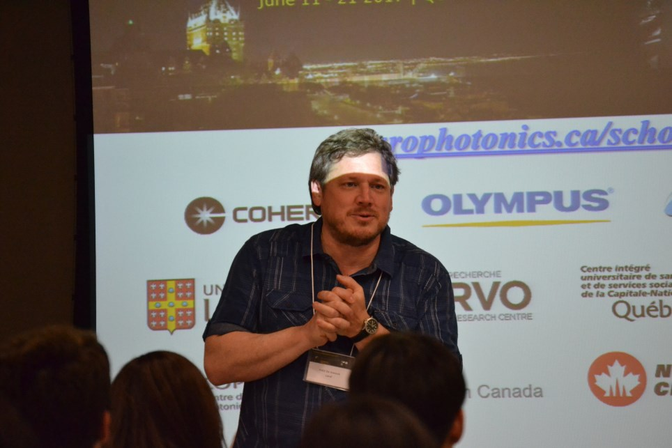 Yves De Koninck at the 2017 Frontiers in Neurophotonics Summer School