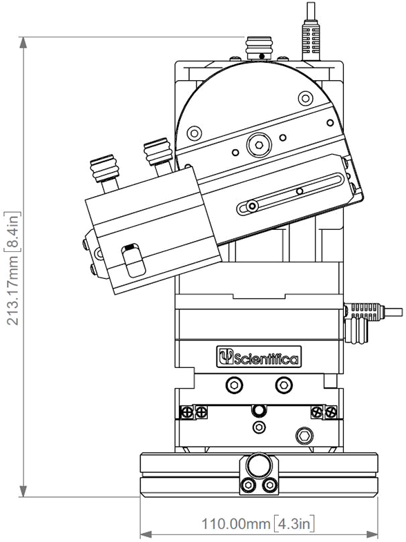 PatchStar Micromanipulator Schematic with Measurements