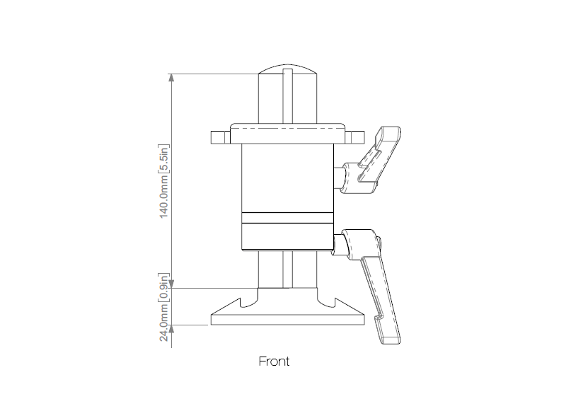 post and platform sample plate holder schematic