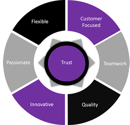 Diagram of our values
